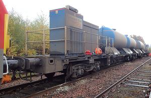 The rail head treatment train involved in the derailment