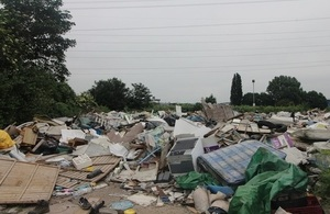 A waste site