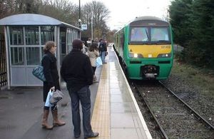 Image of the Abbey Line community rail in use.