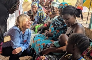 Minister Baldwin visiting a nutrition centre in Mali