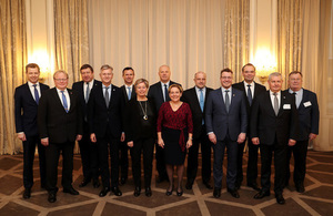 Minister for the Armed Forces is pictured alongside other Defence Ministers from the Northern Group at their meeting in Oslo.