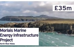 The £35 million Morlais Marine Energy Infrastructure Project in North West Wales.