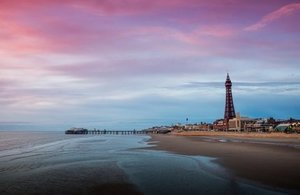 Blackpool tower by the beach