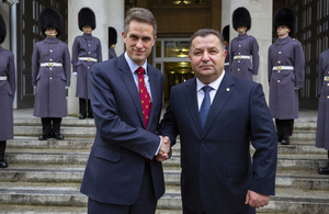 Defence Secretary Gavin Williamson meets Minister of Defence of Ukraine General Stepan Poltorak in London