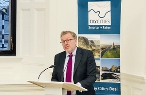 David Mundell speaks at the Tay Cities Deal Heads of Terms signing