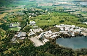 A aerial image of the Alderley Park science campus in Cheshire