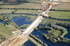 750m River Great Ouse viaduct bridge