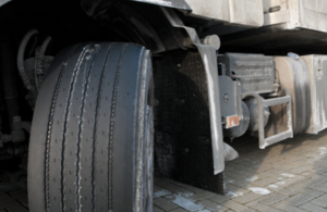 Photo of tyres on a heavy goods vehicle