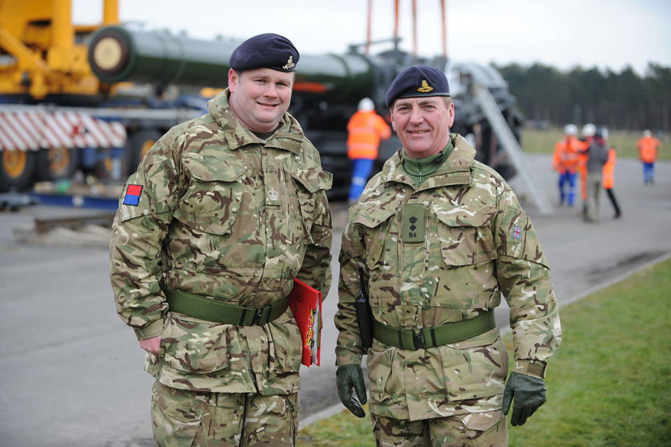 Warrant Officer Class 2 Nick Shipton (left) and Lieutenant Colonel John Le Feuvre