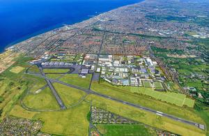 Blackpool Airport Enterprise Zone aerial photo