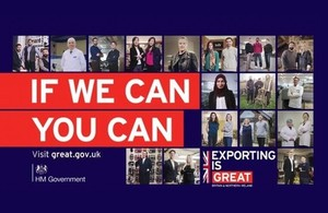 If We Can You Can campaign images showing British exporters