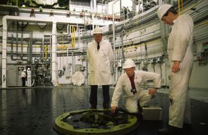 Inside a UK nuclear power station