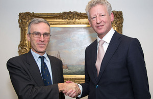Belgian Defence Minister Pieter De Crem and Dr Andrew Murrison MP