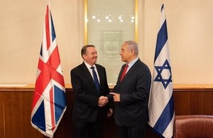 International Trade Secretary Liam Fox meets Israeli Prime Minister Benjamin Netanyahu