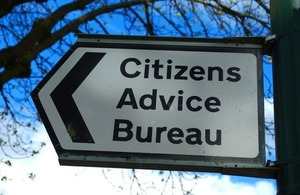 Out-of-home signage for the Citizens Advice Bureau By Savo Ilic at Shutterstock
