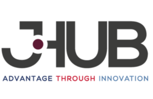 jHub logo, featuring their motto 'Advantage through innovation' Crown Copyright. all rights reserved.