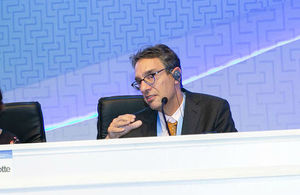 Piers Forster at the 48th Session of the IPCC in Incheon, Republic of Korea (credit: IISD/ENB/Sean Wu)
