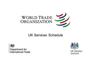 World Trade Organization logo and text: UK Services Schedule