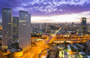 Tel Aviv cityscape in Israel.