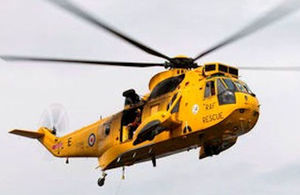 Sea King helicopter, Crown Copyright, All rights reserved