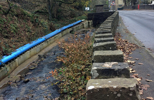 The new pipeline is protecting the River Irwell.