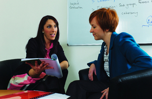 Image: two women in a meeting