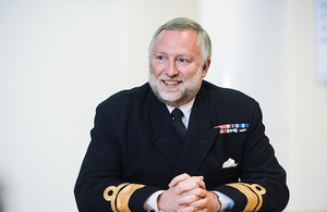 UKHO's Acting Chief Executive & Accounting Officer, Rear Admiral Tim Lowe