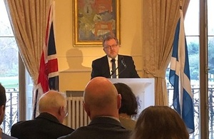 David Mundell speaks on the PM's Brexit Deal in London