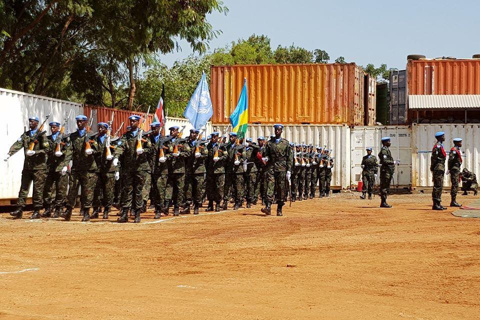 Rwanda medals parade. Image: Crown copyright