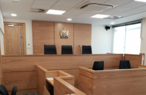 Swindon court room