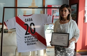 Arlette Contreras became the face of the #NiUnaMenos movement against domestic violence in Peru.