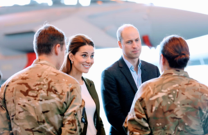 A photo the Royal couple meeting with personnel based in Cyprus. MOD Crown Copyright 2018