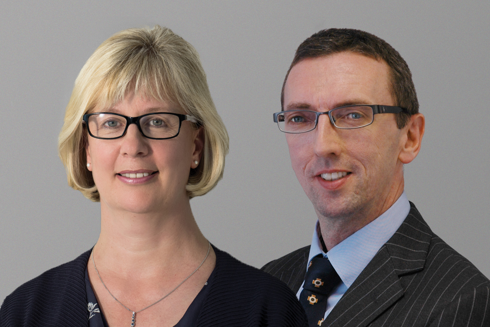 Melissa Tatton, Chief Executive, and Alan Colston, Acting Chief Valuer, Valuation Office Agency.