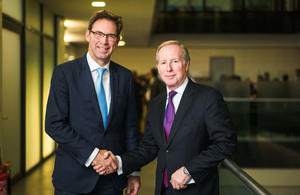 Defence Minister Tobias Ellwood; CEO of the Officers' Association Lee Holloway