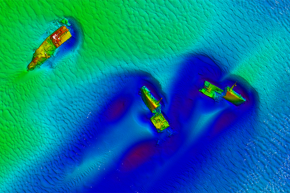 Bathymetric data of a wreck in Goodwin Sands