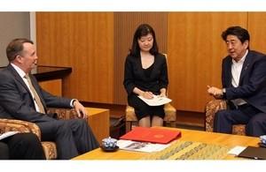 Liam Fox meets Japanese Prime Minister Shinzo Abe