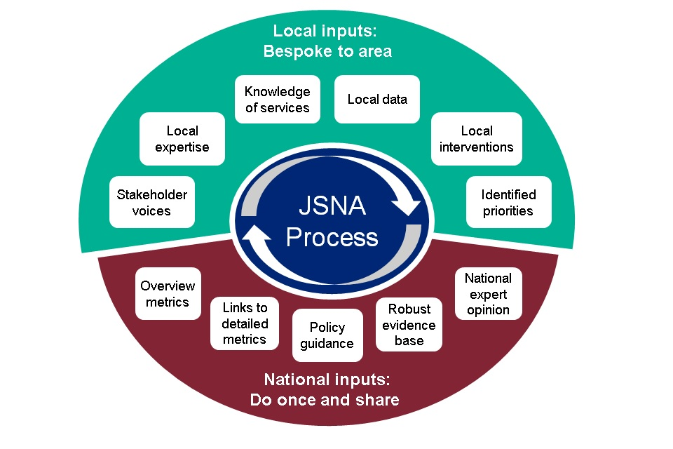 Infographic showing JSNA process