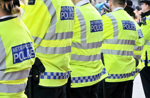 Image of police officers in a line.