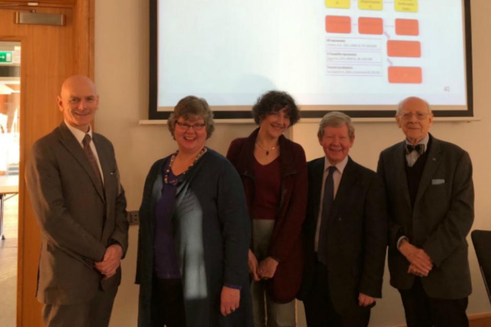 Professor Chris Elliott, Dr Hazel Gowland, Professor Clare Mills, Dr Michael Walker, Professor Duncan Thorburn Burns.