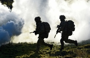 Image showing 2 soldiers patrolling