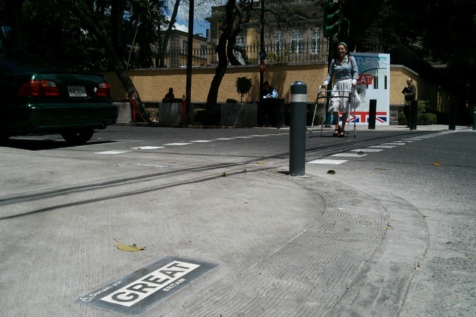 The adjusted street corners