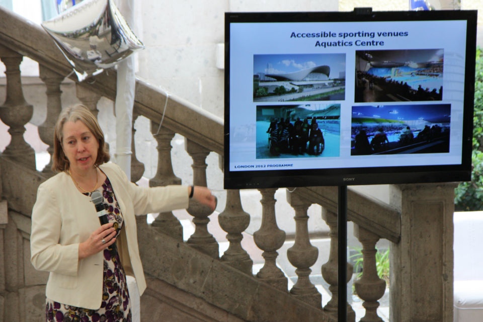 Julie Fleck presenting ''Accessible London: achieving an inclusive environment''