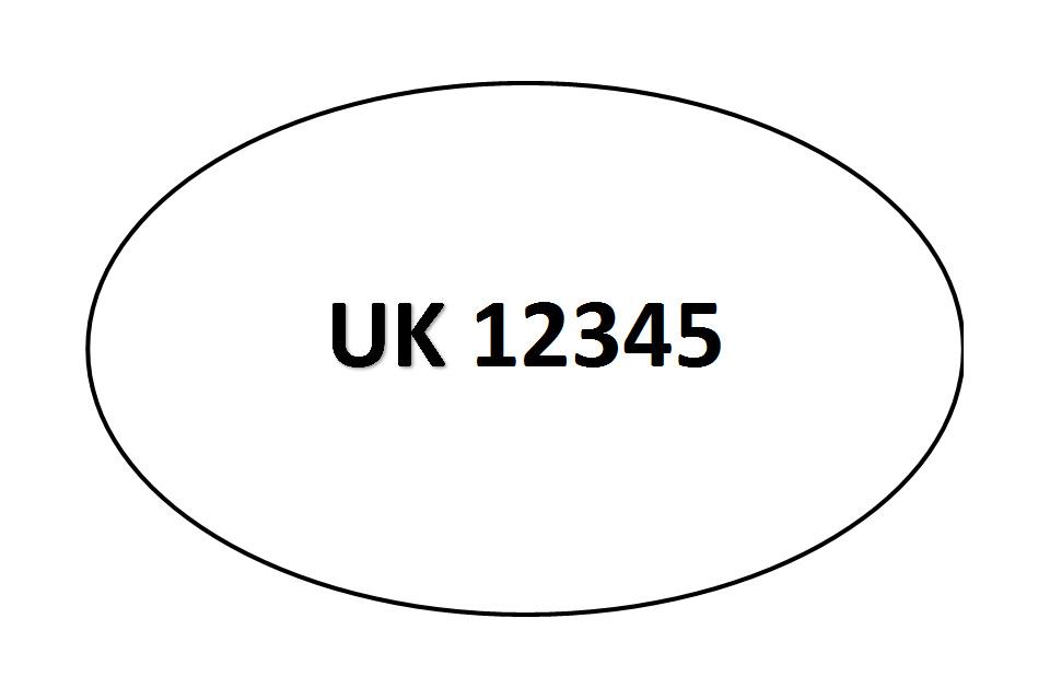 Example of new UK identification mark.