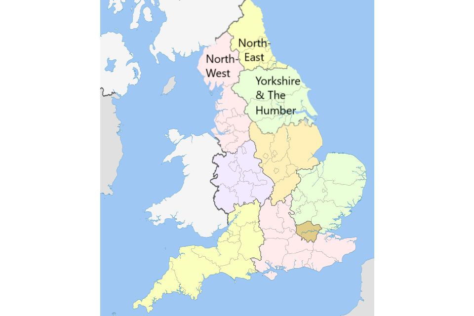 North-East, North-West, and Yorkshire & the Humber