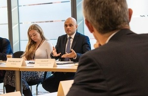 Home Secretary, Sajid Javid, chairs a meeting with advertisers to discuss online child sexual exploitation