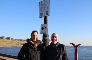 Image shows the Environment Agency's Taryn Al-mashgari and Andrew Burnett from North Tyneside Council.
