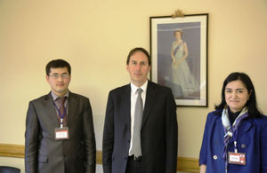 Ambassador George Edgar meets Uzbek parliamentary officials,Ms Okilakhon Karakhodjaeva and Mr Bekzod Musayev