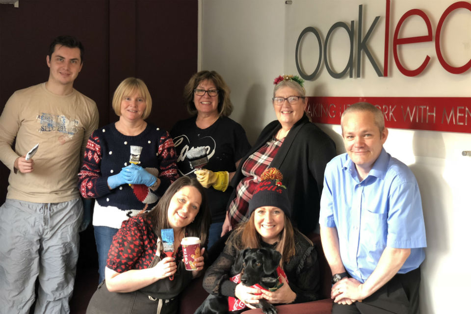 Group photo of Highways England staff at Oakleaf