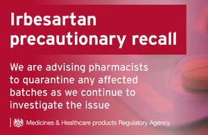 Precautionary Recall - Irbesartan containing products
