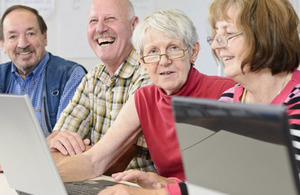 Older people learning digital skills